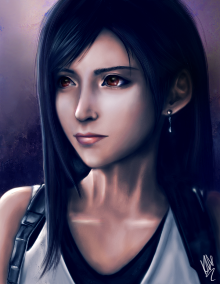 My portrait of Tifa from the FFVII Remake